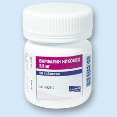 Таблетки Варфарин Нікомед